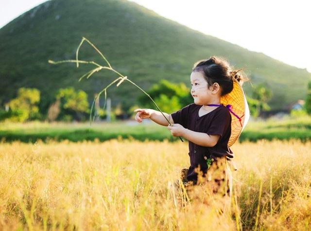 Bối cảnh của bộ ảnh là một cánh đồng sau mùa gặt ở huyện Hưng Nguyên (tỉnh Nghệ An). Những thửa ruộng đã được gặt xong, nhường chỗ cho những cây cỏ dai. Mùa cỏ đơm bông trong ánh nắng chiều tạo nên vẻ đẹp nên thơ cho bộ ảnh thú vị này.