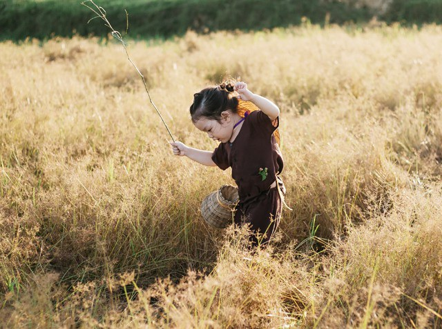 Chạy nhảy thỏa thích giữa đồng cỏ mênh mông.