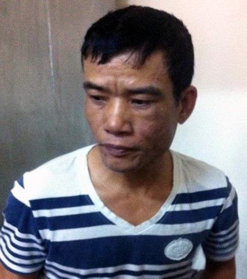 Hoàng Văn Chiến, đối tượng vờ va chạm giao thông để trộm tài sản, bị người dân bắt tại chỗ.