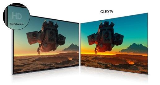 TV Samsung QLED không mắc hiện tượng Burn-in.