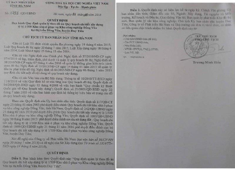 Đang rà soát việc doanh nghiệp phản ánh Phó chủ tịch tỉnh Hà Nam ra văn bản sai quy định  - Ảnh 2.