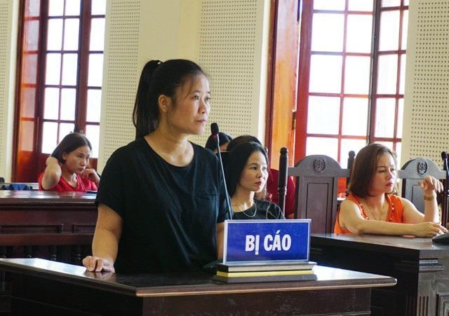 Bị cáo Nguyễn Thị Nga tại phiên xét xử.