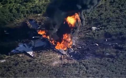 Hiện trường chiếc C-130 rơi hồi năm 2017.