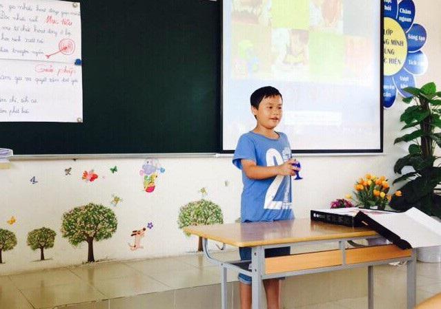 Tại buổi học, một số học trò cũng biểu diễn khả năng của mình cho bố mẹ xem