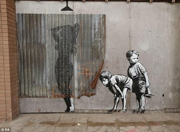 Một tác phẩm hài hước nhẹ nhàng của Banksy