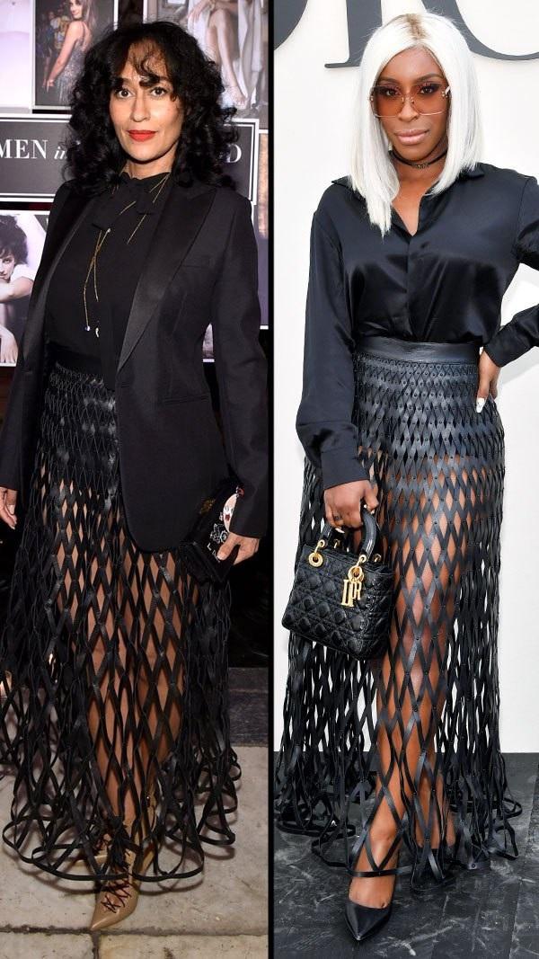 Tracee Ellis Ross và Jackie Aina trong bộ váy Dior