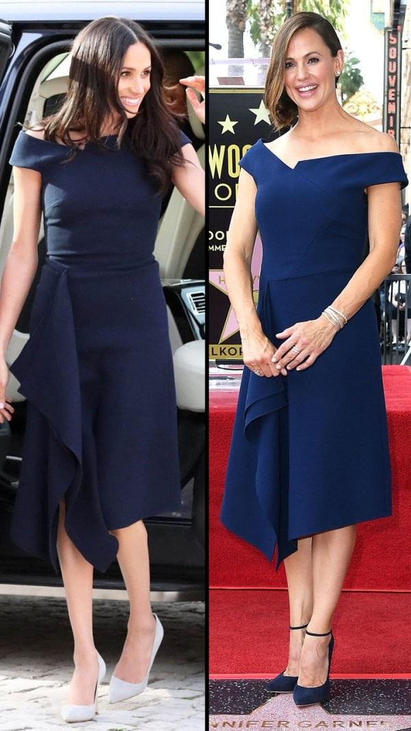 Meghan Markle và Jennifer Garner thanh lịch với váy Roland Mouret giá hơn 2000 USD