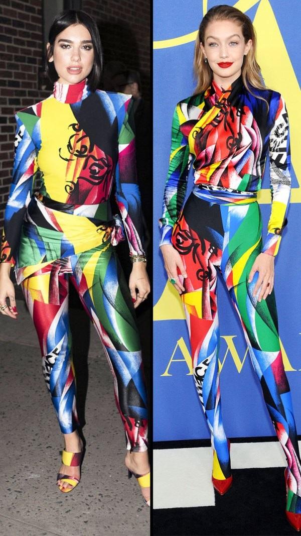 Dua Lipa và Gigi Hadid rực rỡ bộ jumpsuit Versace