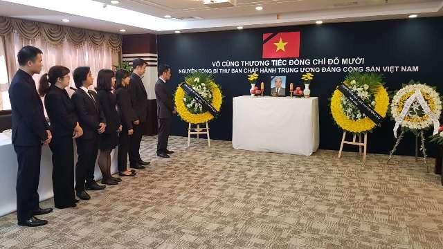 Lễ viếng nguyên Tổng Bí thư Đỗ Mười tại Tổng lãnh sự quán Việt Nam tại Thượng Hải - Trung Quốc