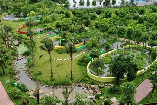 Công viên 6 giác quan – một trong những hạng mục tiện ích đã được CĐT hoàn thành.
