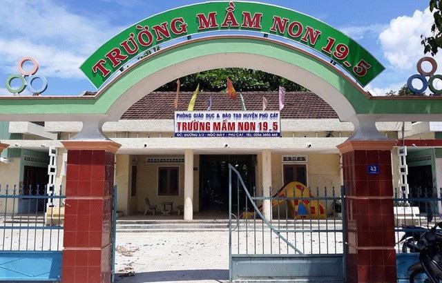 Trường Mầm non 19-5 (thị trấn Ngô Mây, huyện Phù Cát, Bình Định), nơi 11 giáo viên bị treo biên chế nhiều năm qua.