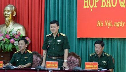 Thiếu tướng Nguyễn Văn Đức, người phát ngôn Bộ Quốc phòng.