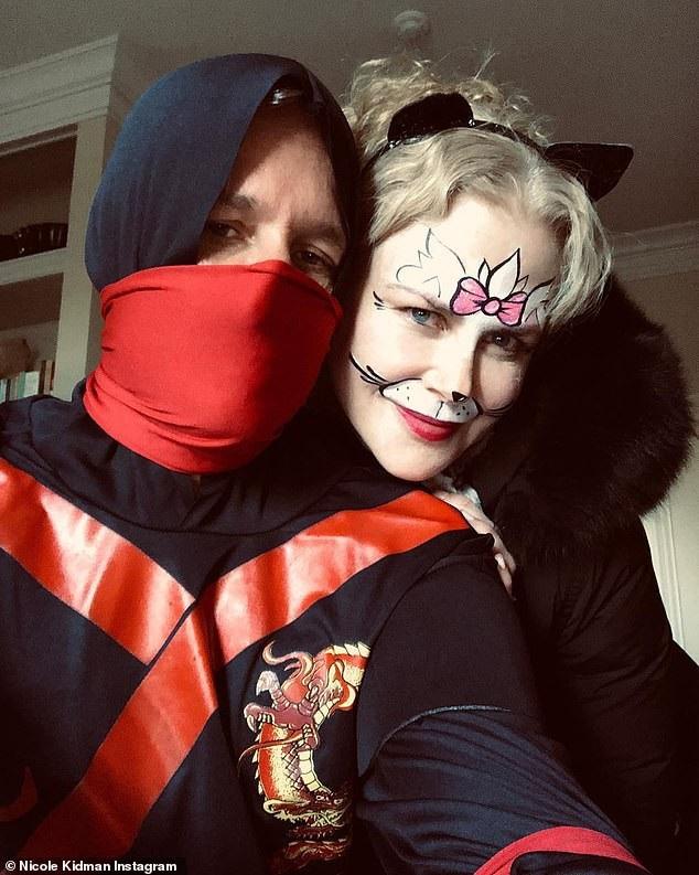 Vợ chồng Nicole Kidman - Keith Urban cũng hòa vào không khí Halloween