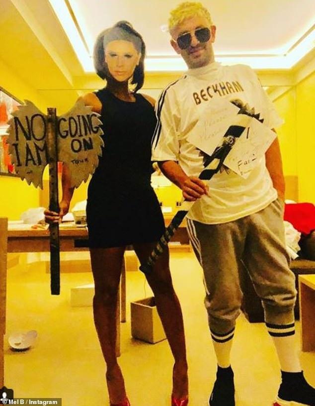 Mel B hóa trang thành bạn thân Victoria Beckham
