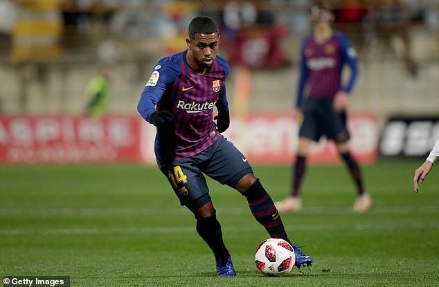 Malcom chơi năng nổ trong lần hiếm hoi được đá chính cùng Barcelona