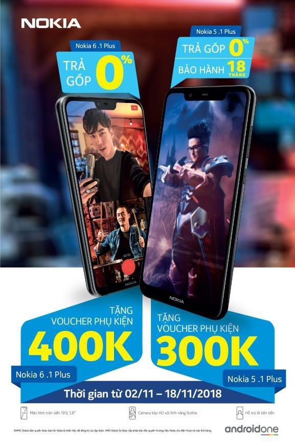 Nhận thưởng liền tay khi mua smartphone Nokia 6.1 Plus và Nokia 5.1 Plus - 1