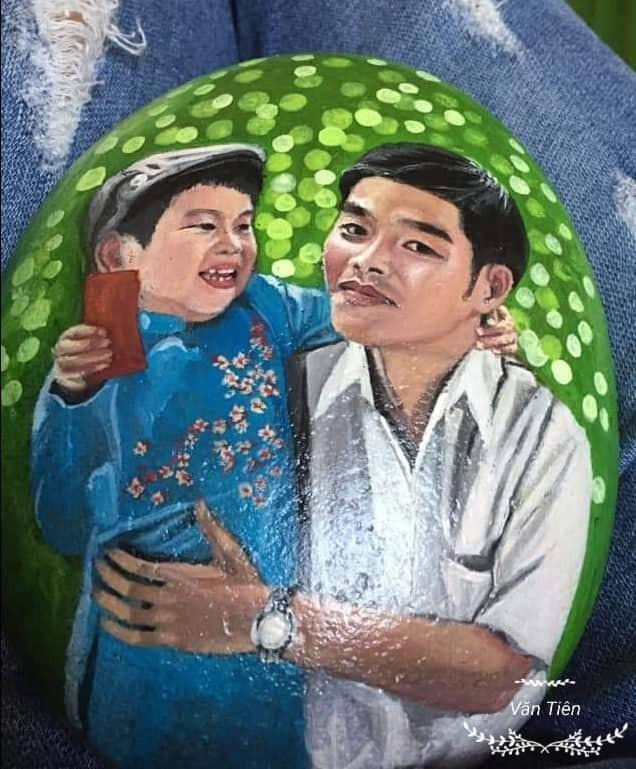 Bức tranh trên đá cuội sống động như thật của chàng trai Thái Bình - 7