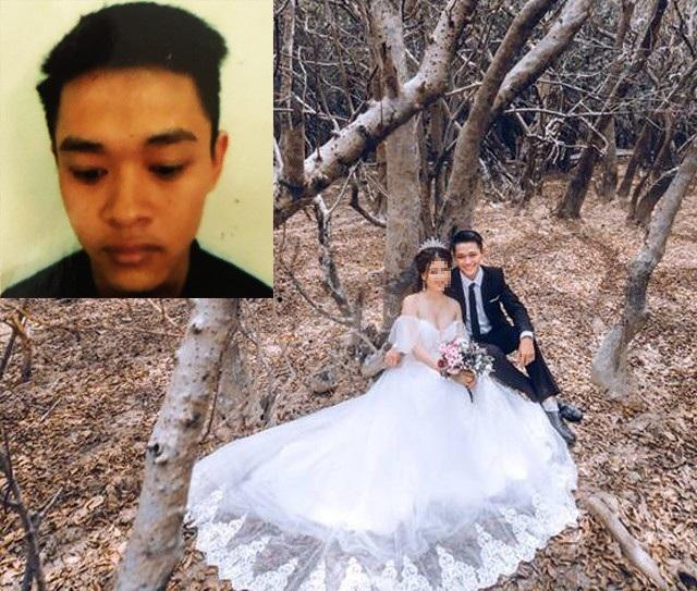 Đỗ Tiến Tùng (ảnh nhỏ). Ảnh lớn: Tùng thuê người mẫu cùng chụp ảnh cưới rồi đăng Facebook để thỏa mãn niềm vui sống ảo của mình.