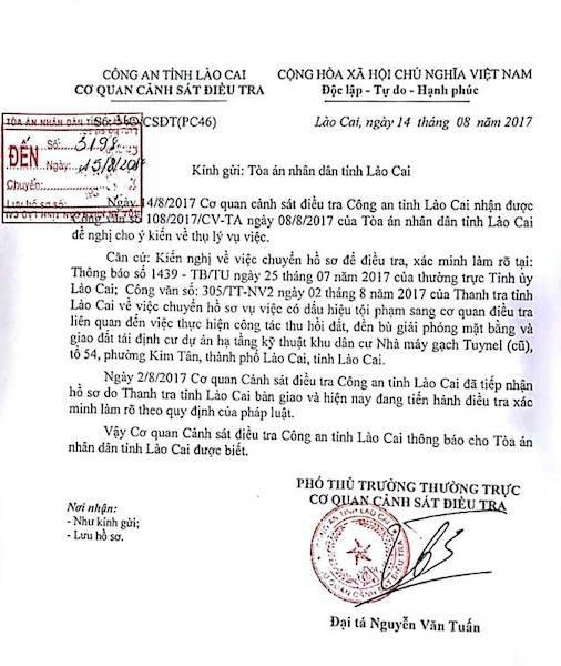Công an tỉnh Lào Cai vào cuộc điều tra dấu hiệu sai phạm trong vụ việc.