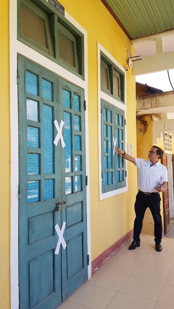 Phòng Hiệu trưởng trường Tiểu học & THCS Dương Hòa đã bị niêm phong phục vụ công tác điều tra