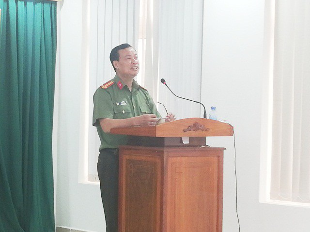 Đại tá Lê Tấn Tới- Giám đốc Công an tỉnh Bạc Liêu.