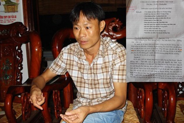 Ông Trịnh Công Minh ngày còn sống luôn tin vào việc công lý sẽ được thực thi. Ảnh Lao động