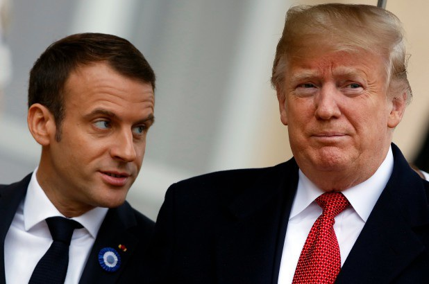 Tổng thống Donald Trump và người đồng cấp Pháp Macron (Ảnh: Getty)