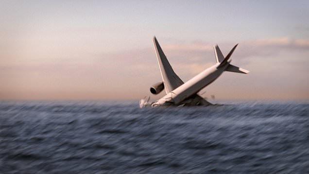 Hình ảnh 3D mô phỏng giả thuyết MH370 gặp trục trặc, rơi xuống Ấn Độ Dương (Ảnh minh họa: Nat Geo)