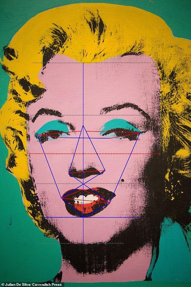 Đứng đầu bảng xếp hảng là bức chân dung khắc họa minh tinh gợi cảm Marilyn Monroe