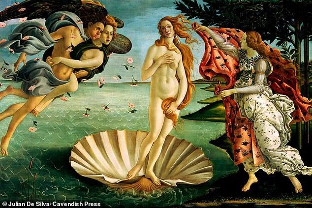 """Bức họa """"Sự ra đời của thần Vệ Nữ"""" thực hiện bởi danh họa người Ý Sandro Botticelli hồi cuối thế kỷ 15 đưa lại một nhan sắc """"nhì bảng"""" xét trên chuẩn mực tỉ lệ vàng."""