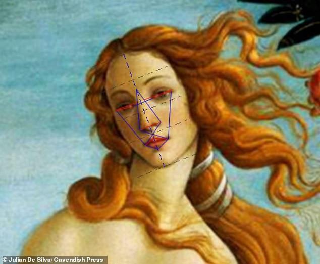 Gương mặt của thần Vệ Nữ trong tranh của Botticelli có tỉ lệ hoàn hảo lên tới 89%.