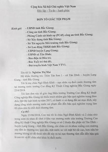 Cơ quan điều tra chính thức vào cuộc vụ 3 cháu bé chết đuối thương tâm tại Bắc Giang - 1