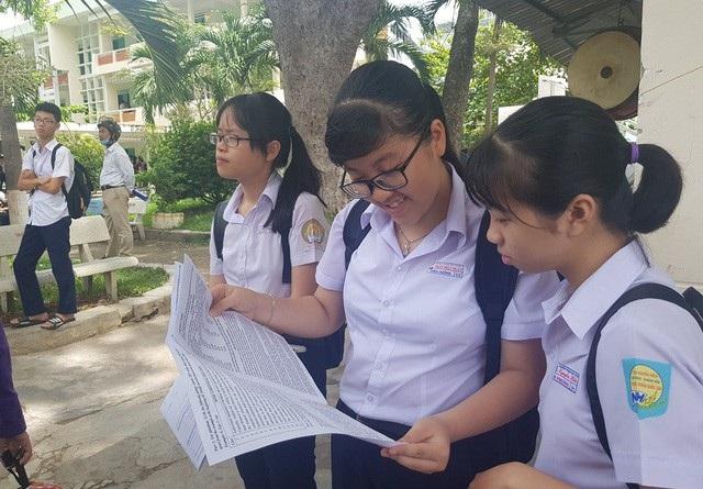 Học sinh vào lớp 10 năm học 2018-2019 trên địa bàn TP Nha Trang, Khánh Hòa