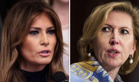 Đệ nhất phu nhân Melania Trump và cựu Phó Cố vấn an ninh quốc gia Nhà Trắng Mira Ricardel (Ảnh: Daily Express)