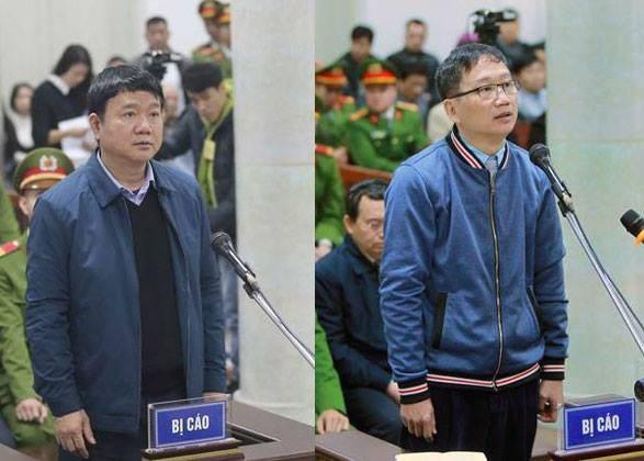 Ông Đinh La Thăng và Trịnh Xuân Thanh hầu tòa.