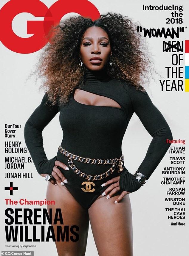 Nữ vận động viên quần vợt người Mỹ Serena Williams (37 tuổi) trên trang bìa tạp chí GQ số ra mới nhất