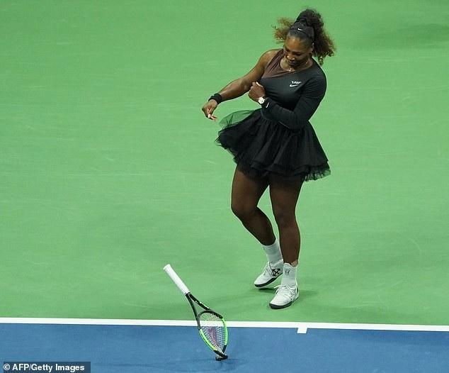 Serena trong trận chung kết tại giải quần vợt Mỹ mở rộng US Open hồi tháng 9 năm nay