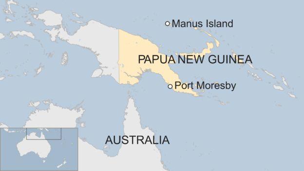 Căn cứ hải quân mới sẽ nằm trên đảo Manus (Đồ họa: BBC)