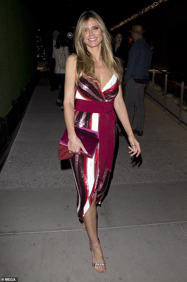 Cùng dự sự kiện còn có siêu mẫu Heidi Klum -đồng nghiệp của Mel B trên ghế giám khảo American got talent