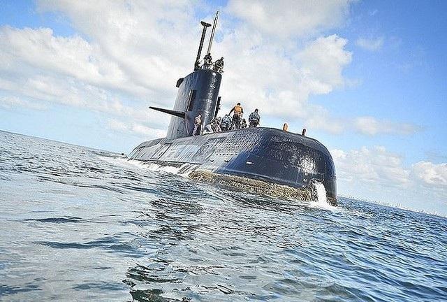 Tàu ngầm ARA San Juan. (Ảnh: Hải quân Argentina)