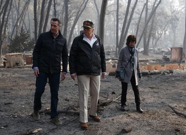 Vụ cháy khiến chất lượng không khí ở bắc California tụt xuống mức tồi tệ nhất thế giới. (Ảnh: Reuters)