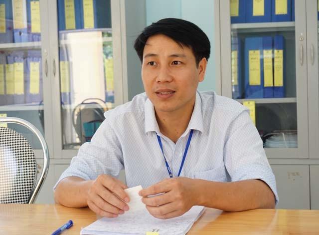 Ông Đặng Xuân Phúc - Phó hiệu trưởng, Hội trưởng Hội khuyến học Trường THCS Hạnh Thiết.