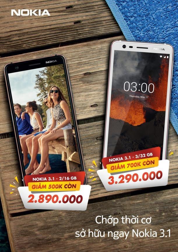 Sở hữu smartphone Nokia 3.1 với mức giá chấn động - 1