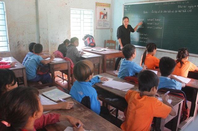 Cô giáo Nga đã có thâm niên 8 năm dạy học ở huyện miền núi Hướng Hóa.