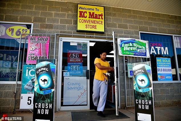 Cửa hàng tiện lợi KC Mart #7, nơi tấm vé số 1,5 tỷ USD được bán ra (Ảnh: Reuters)