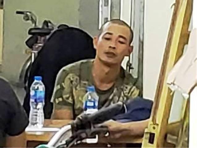 Đối tượng Điệp bị bắt giữ khi đang lẩn trốn tại một nhà nghỉ ở quận Đồ Sơn - Hải Phòng