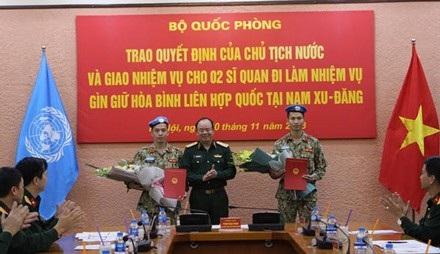 Thêm hai sĩ quan Việt Nam lên đường làm nhiệm vụ Gìn giữ hòa bình - Ảnh 1.
