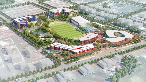 Toàn cảnh dự án Thành phố Giáo dục Quốc tế IEC Quảng Ngãi.