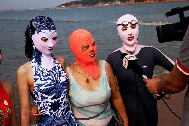 Áo tắm độc nhất vô nhị của phụ nữ Trung Quốc