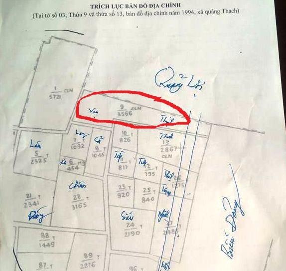 Thanh Tra kết luận bản đồ 1994 là sai lệch nhiều so với bản đồ 299 trước đó.